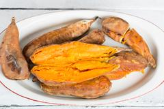 Sweet potatoes season Stock Photos