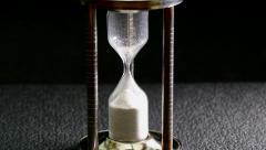 Egg timer finishing its flow. Stock Footage