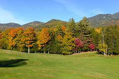 Fall foliage in the Adirondacks, New York Stock Photos