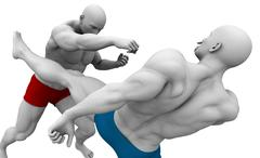 Body Combat Classes - stock illustration