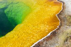Stock Photo of Geothermal activity at Yellowstone National Park, Wyoming, USA