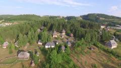 European Slavs Serbian ethnic village in forest in summer Stock Footage