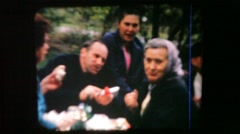 Picnic on the roadside. Portrait of 1960s. Stock Footage
