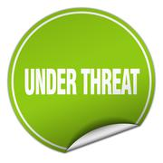 Stock Illustration of under threat round green sticker isolated on white