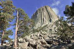 Devils Tower National Monument, Wyoming - stock photo