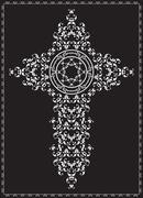 Christian Cross Design Stock Illustration