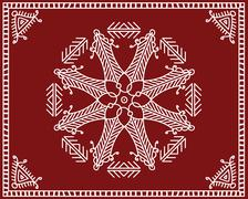 Folk Circular, Tribal Design, Motif, Wall Painting - stock illustration