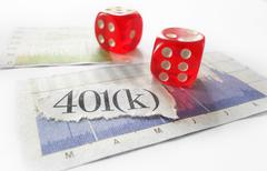401k dice - stock photo