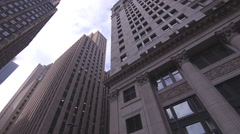 Chicago Skyscrapers view from below - stock footage