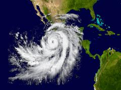 Hurricane Patricia Stock Illustration