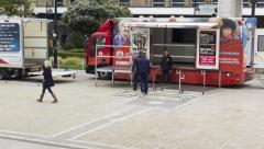 Victoria Square Bolton fire safety display Stock Footage