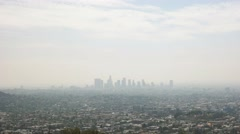 los angeles smog - stock footage