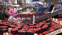 Stalls At A London Street Market Stock Footage