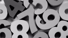 Black-and-white numbers background. 4K UHD. Stock Footage