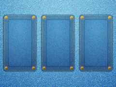 jeans labels background - stock illustration