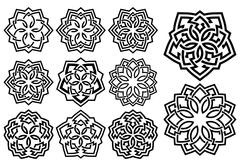 Ornamental pattern in arabesque style Stock Illustration