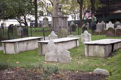 St paul's churchyard near ground zero in new york city Stock Photos