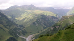 Kazbegi Mountain Stock Footage