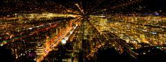 Stock Photo of Zoom City Lights