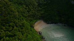 Aerial View of koh Mook Island, Andaman Ocean, Thailand Stock Footage