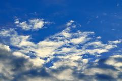 Heavenly landscape with Cumulus clouds - stock photo