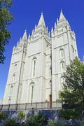 Temple Square, Mormon headquarters, Salt Lake City ,Utah - stock photo