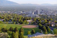 Stock Photo of Salt Lake City skyline with Capitol building, Utah