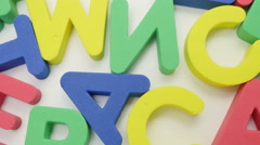 Mixed colorful letters. Stock Footage