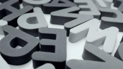 Alphabet black-and-white mix. - stock footage
