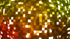 Broadcast Firey Light Hi-Tech Squares Globe, Multi Color, Abstract, Loopable, HD Stock Footage