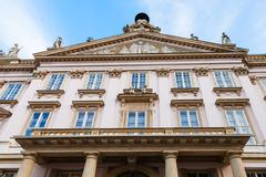 Facade of Primate Palace in Bratislava Old Town Stock Photos