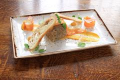 Pate terrine appetizer starter Stock Photos