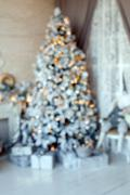Christmas and New Year decorated interior room Stock Photos