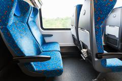 Stock Photo of seats in train in second class