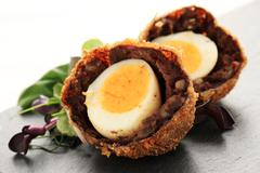 Stock Photo of scotch eggs appetizer
