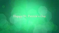 St. Patricks Animated background - stock footage