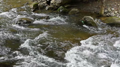Mountain stream river with rapids Stock Footage