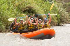 Ecuador Whitewater River Rafting - stock photo