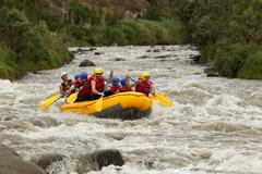 Whitewater River Rafting Adventure Stock Photos