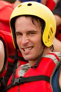 Stock Photo of Man Wearing Water Sport Protection Equipment