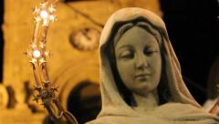 Virgin Mary at the Cathedral of Troina in Sicily Stock Footage