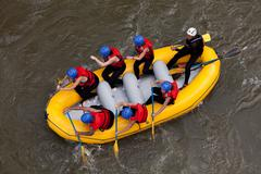 Stock Photo of Whitewater River Rafting Adventure
