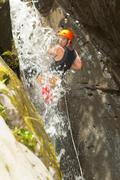 Stock Photo of Extreme Canyoning Sport