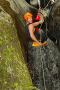 Extreme Canyoning Sport Stock Photos