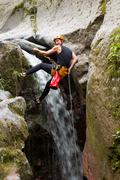 Stock Photo of Canyoning Extreme Sport