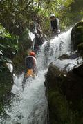Canyoning Extreme Sport - stock photo