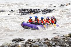 Whitewater River Rafting Tour On Pastaza River Stock Photos