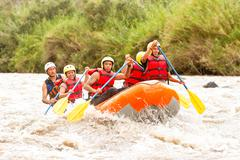 Stock Photo of Whitewater River Rafting Boat Adventure