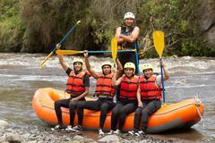 Whitewater River Rafting Adventure Team - stock photo