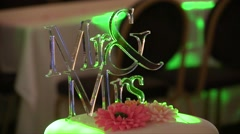 Mr. & Mrs. Decoration with lights Stock Footage